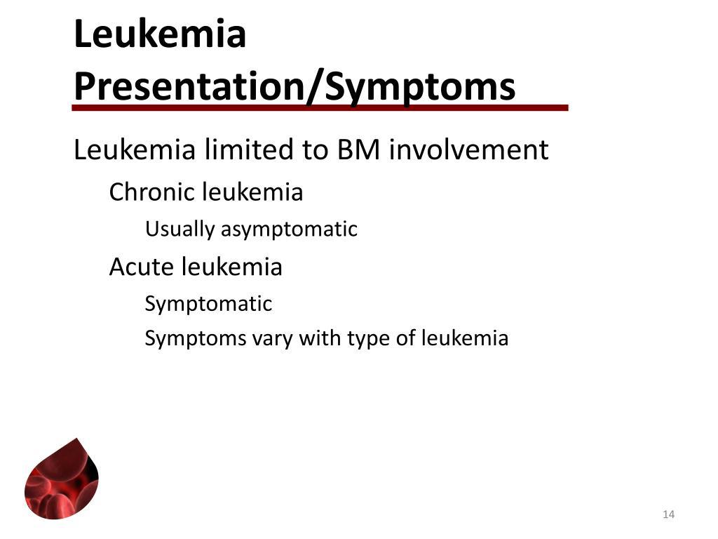 Leukemia Presentation/Symptoms