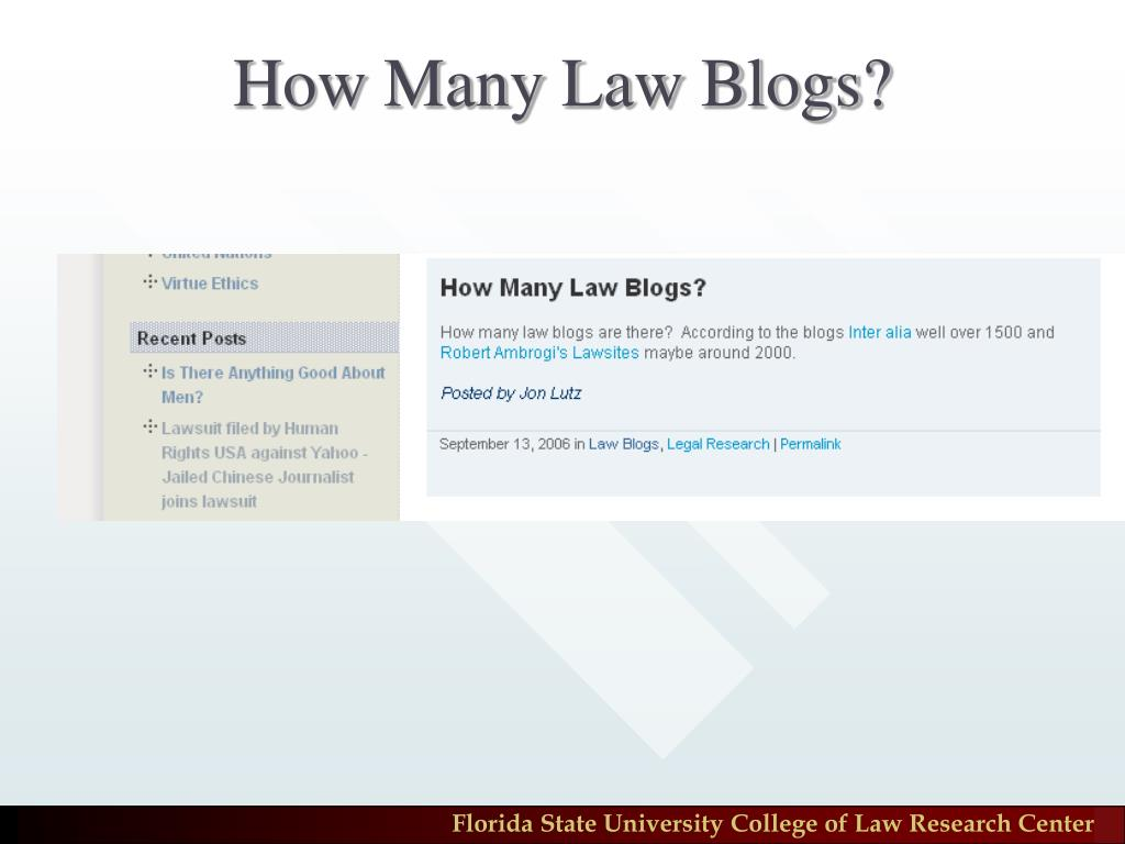How Many Law Blogs?