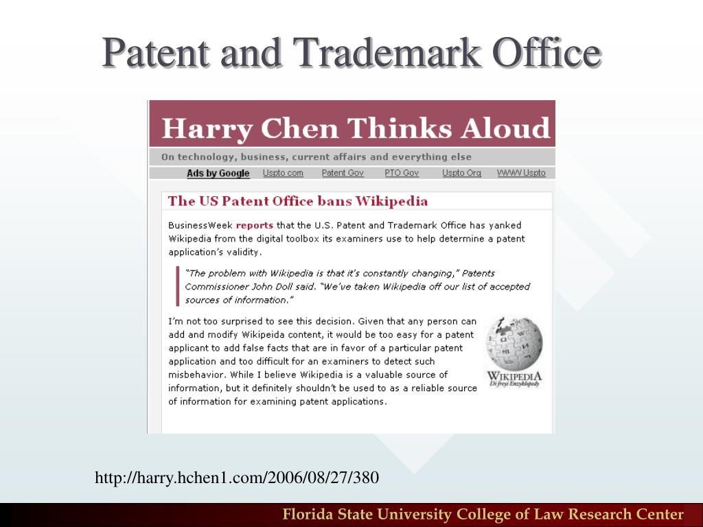 Patent and Trademark Office