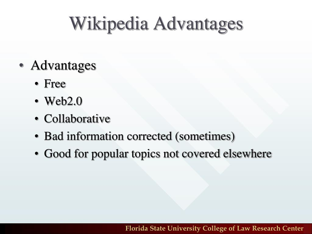 Wikipedia Advantages