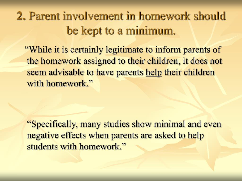 parent involvement in elementary education