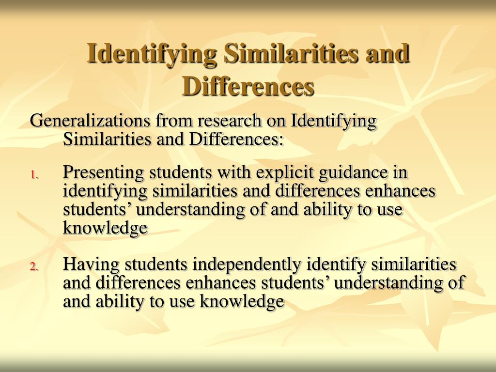 1 what are similarities and differences of English language arts standards » reading: informational text » grade 1 » 9 print this page identify basic similarities in and differences between two texts on the same topic (eg, in illustrations, descriptions, or procedures).