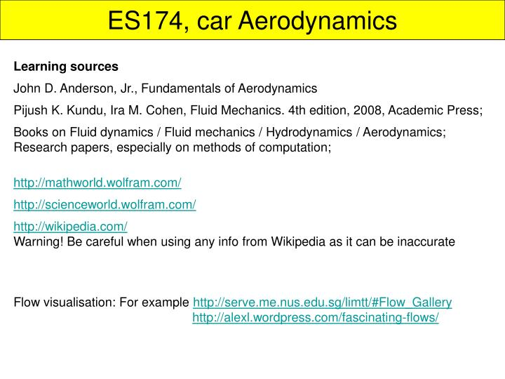 Es174 car aerodynamics