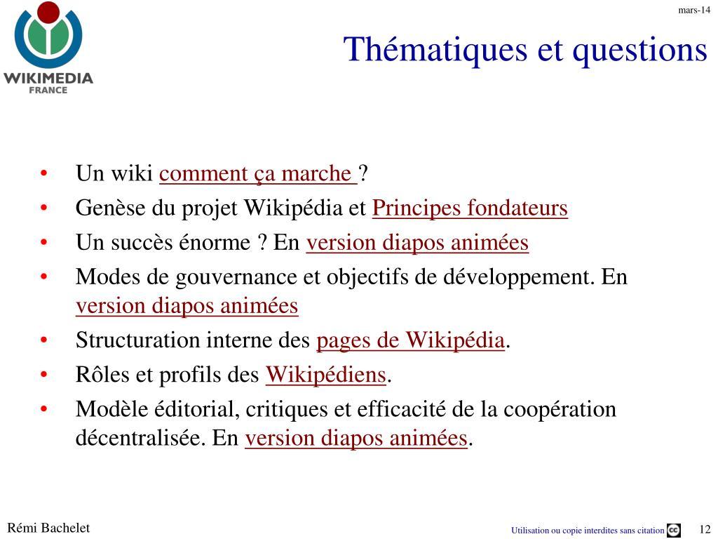 Thématiques et questions