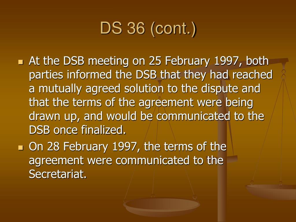 DS 36 (cont.)