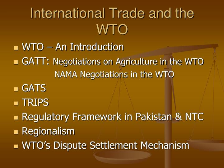 International trade and the wto2
