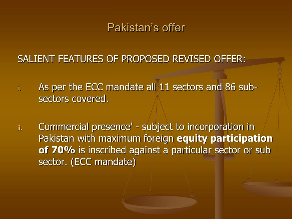 Pakistan's offer