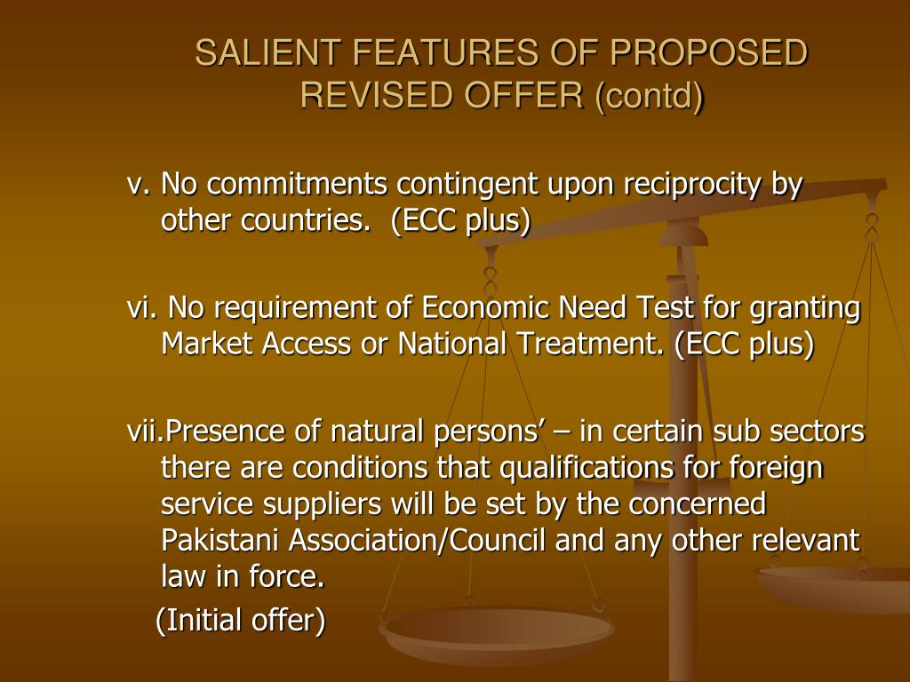 SALIENT FEATURES OF PROPOSED REVISED OFFER (
