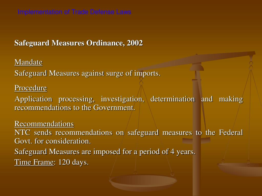 Safeguard Measures Ordinance, 2002