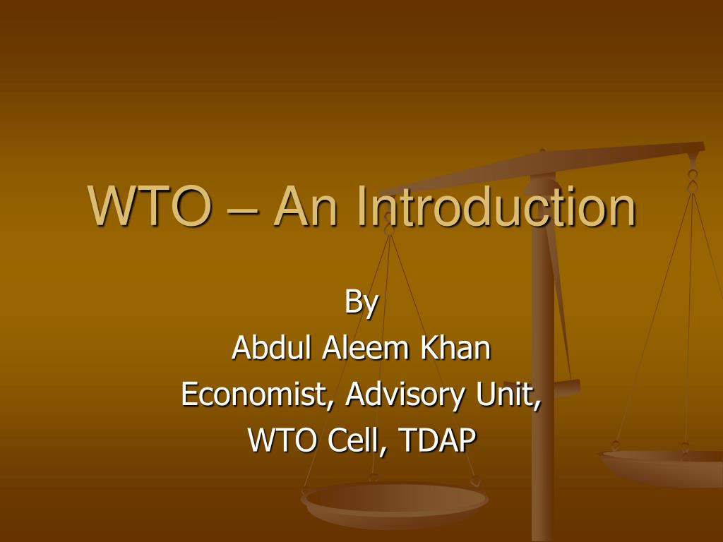 WTO – An Introduction