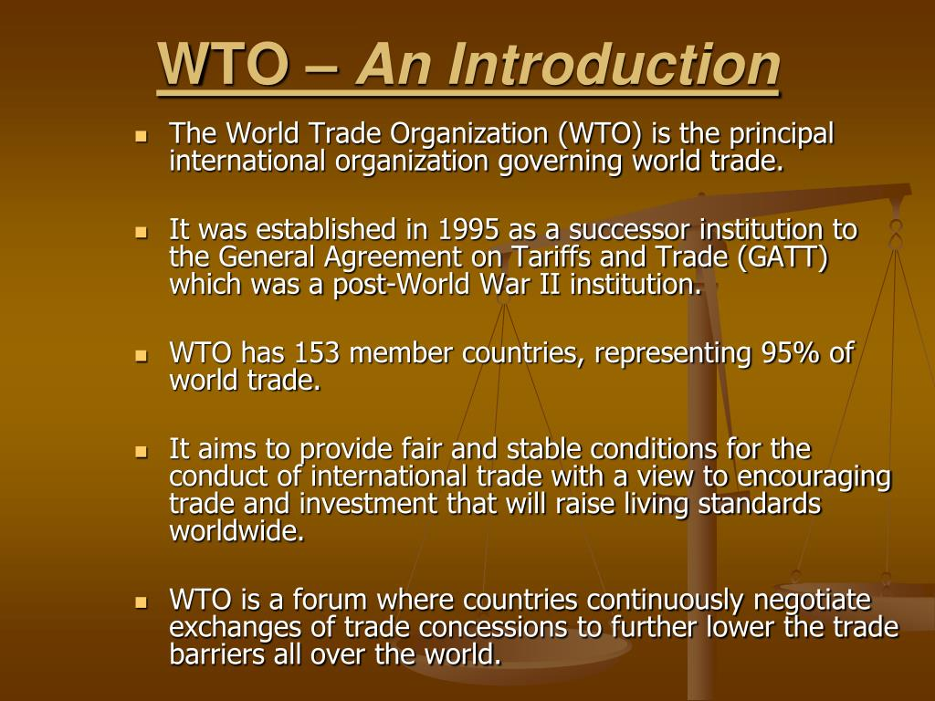 WTO –