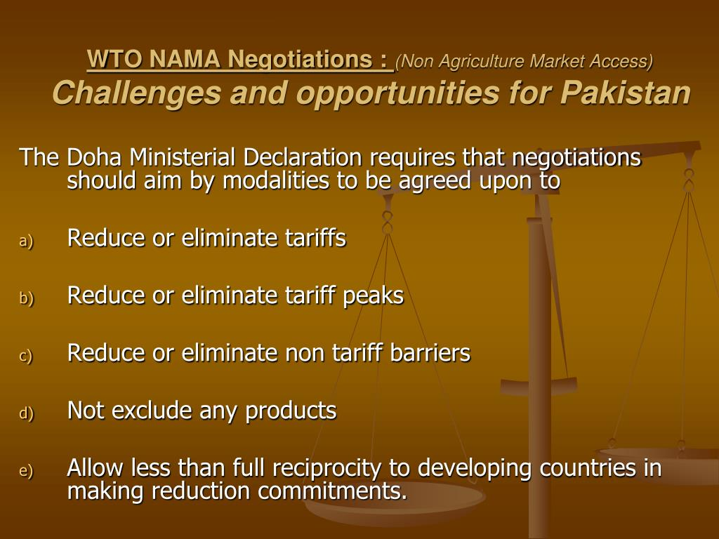 WTO NAMA Negotiations :