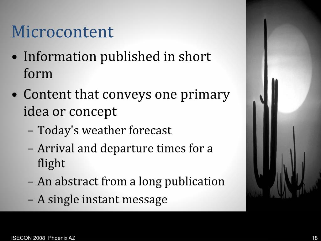 Microcontent