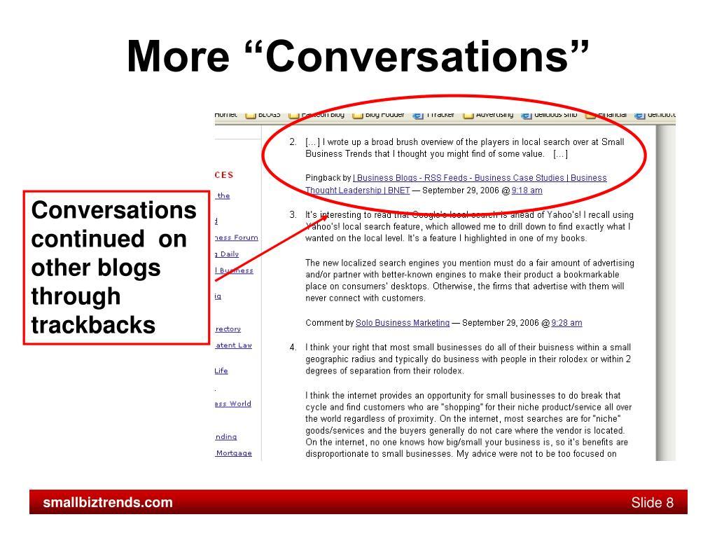 "More ""Conversations"""