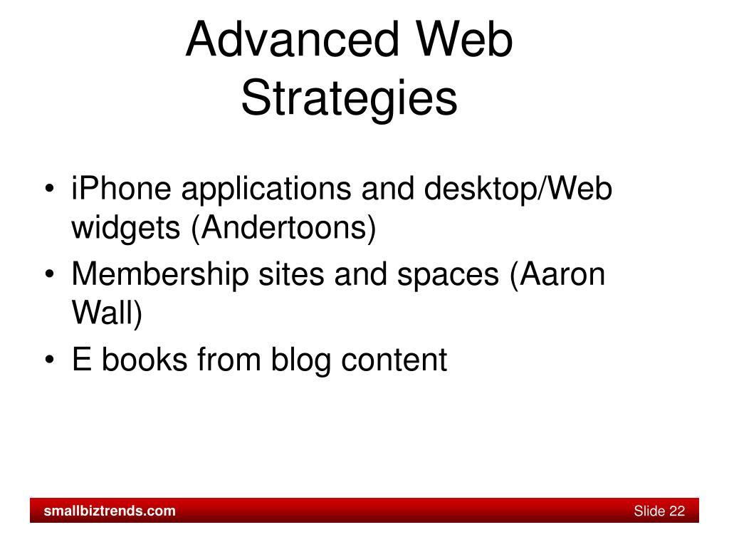 Advanced Web Strategies