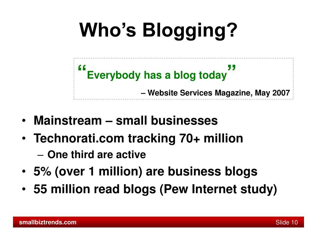 Who's Blogging?