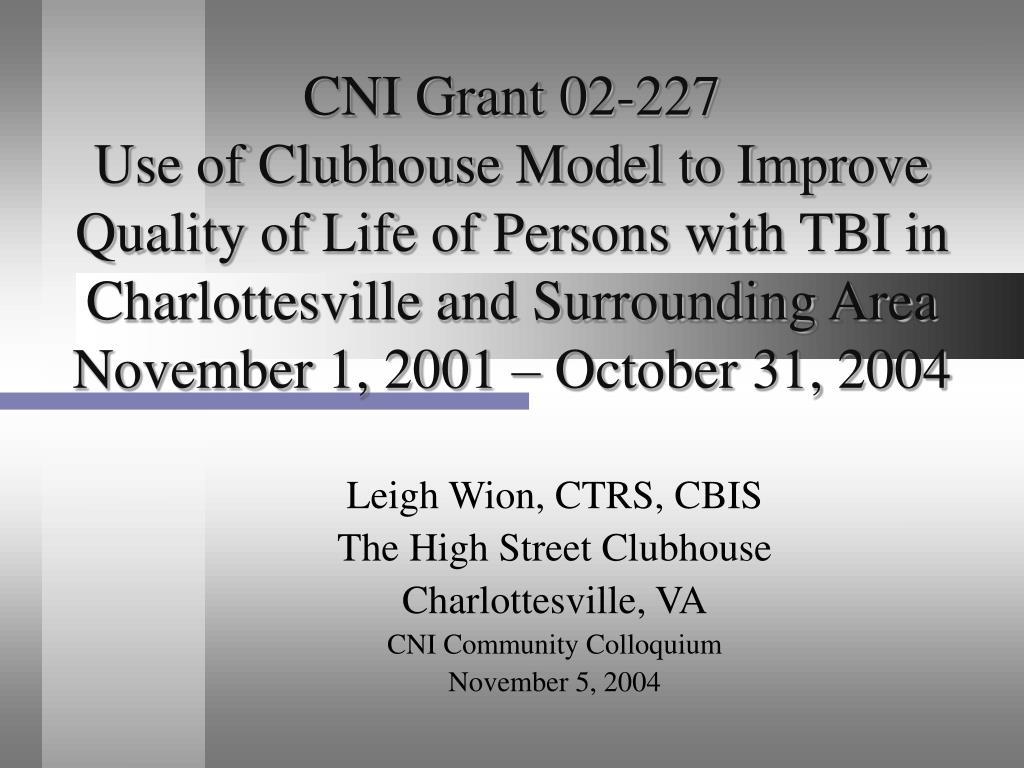 CNI Grant 02-227