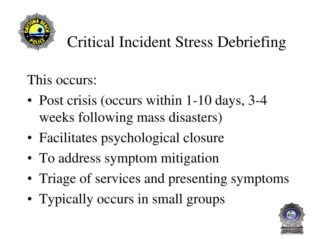 critical issue on psychological debriefing
