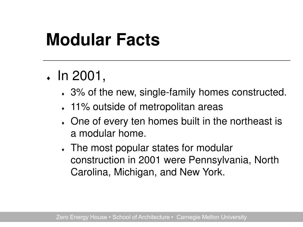 Modular Facts