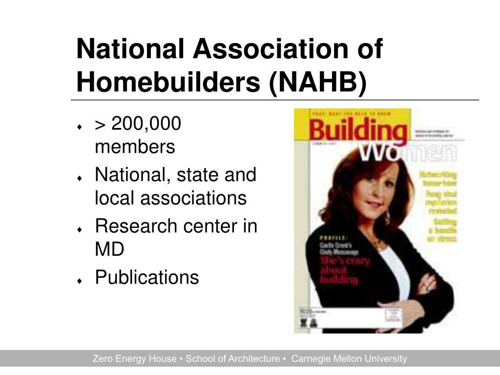 National Association of Homebuilders (NAHB)