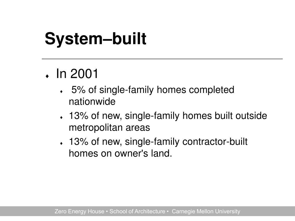 System–built