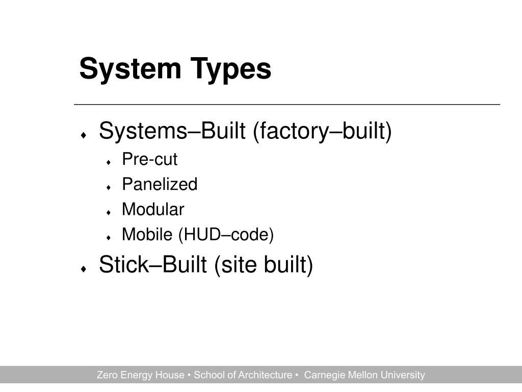 System Types