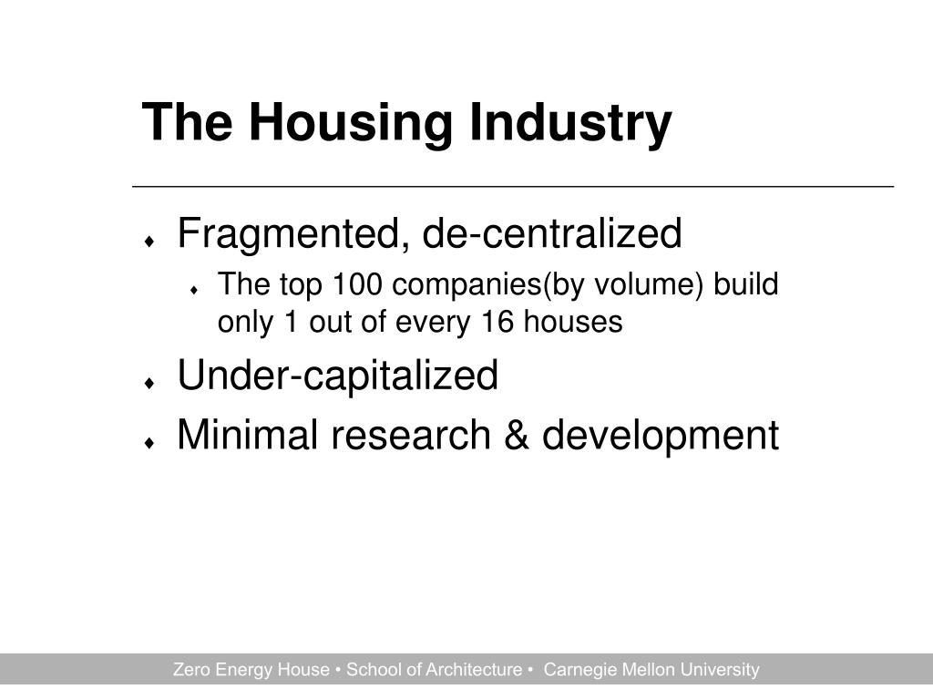The Housing Industry