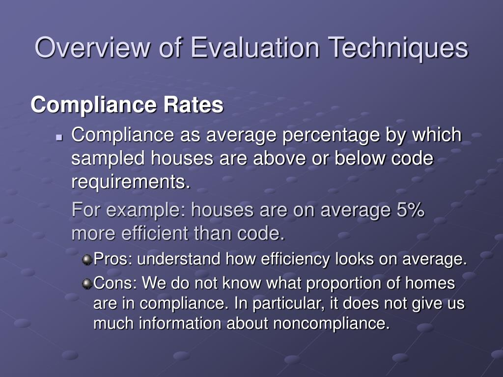 Overview of Evaluation Techniques