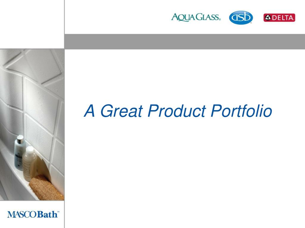 A Great Product Portfolio