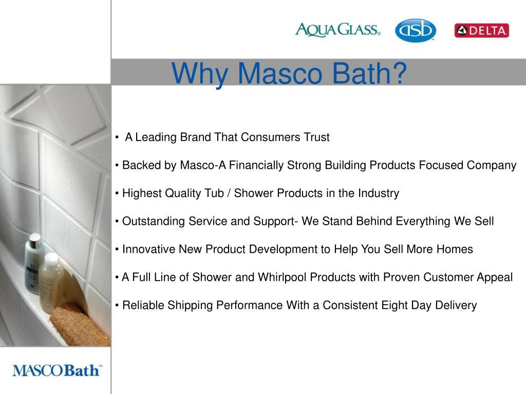 Why Masco Bath?