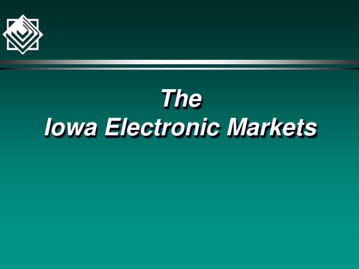 The iowa electronic markets