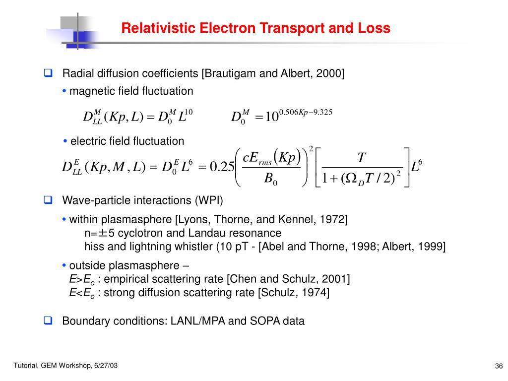 Relativistic Electron Transport and Loss
