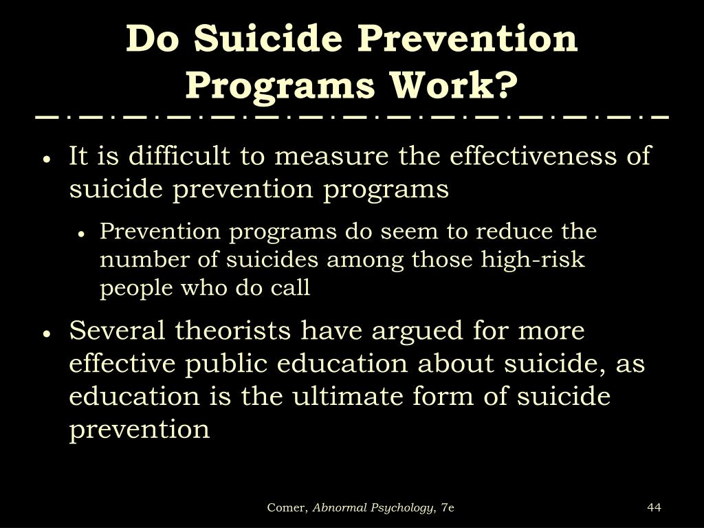 how to work for suicide prevention