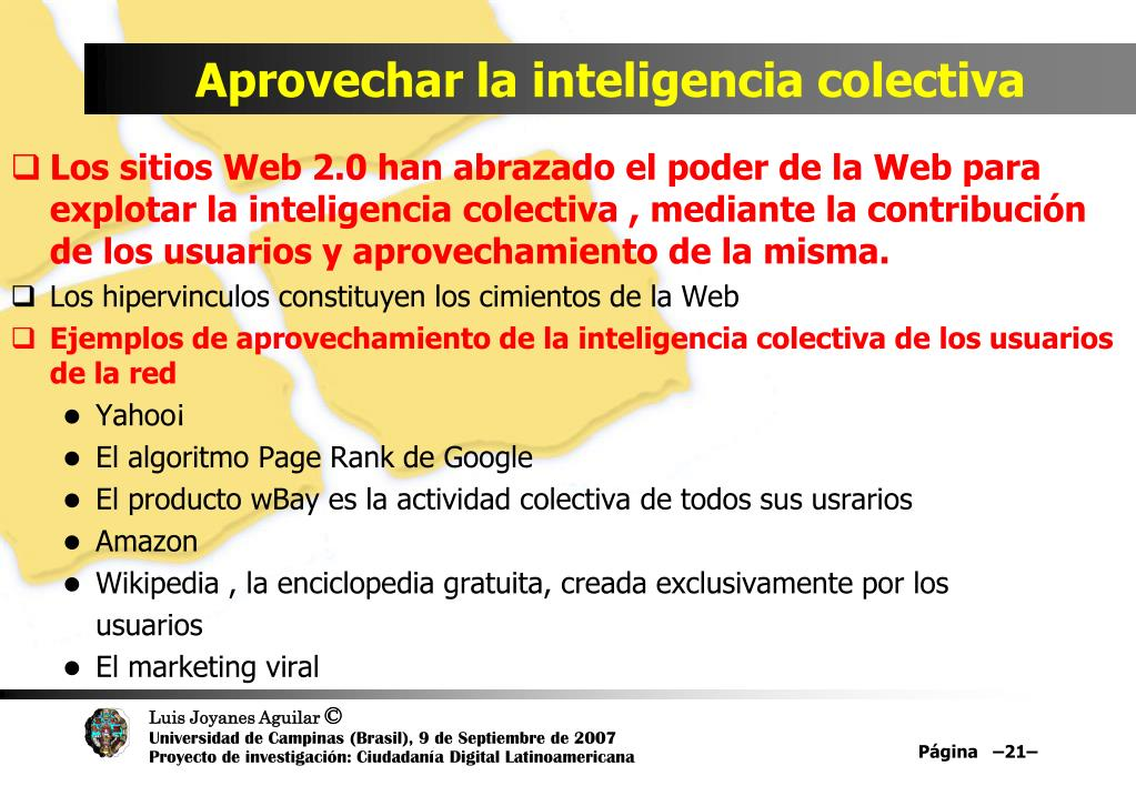 Aprovechar la inteligencia colectiva