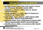 bibliograf a espec fica web 2 0118