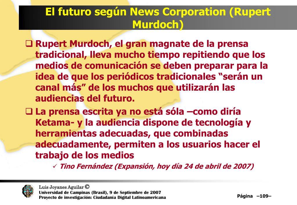 El futuro según News Corporation (Rupert Murdoch)
