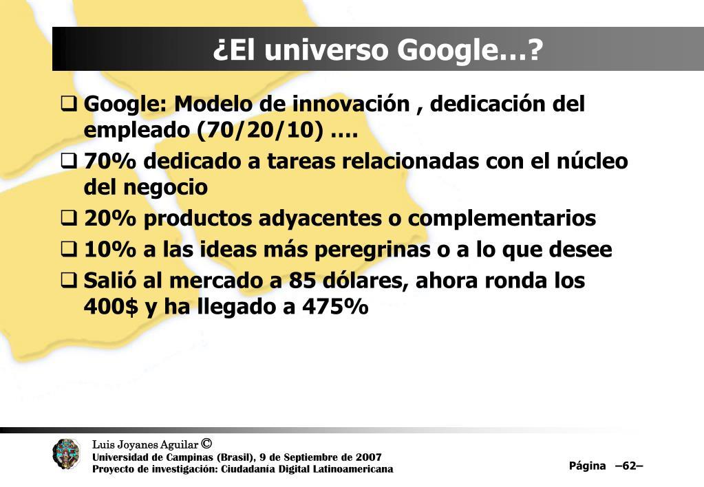¿El universo Google…?