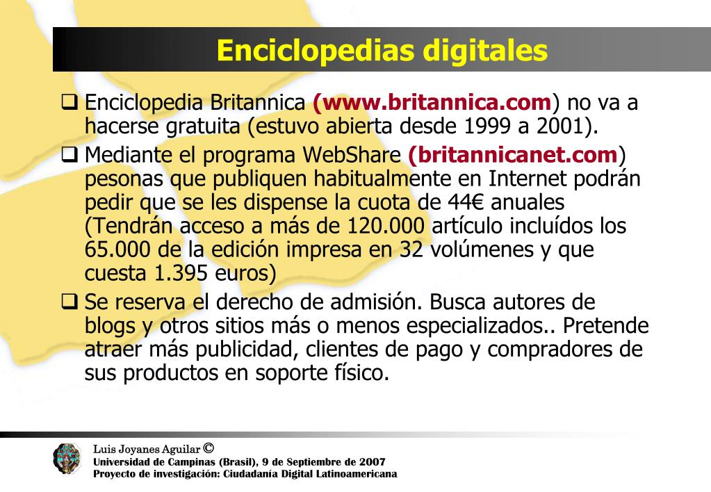 Enciclopedias digitales