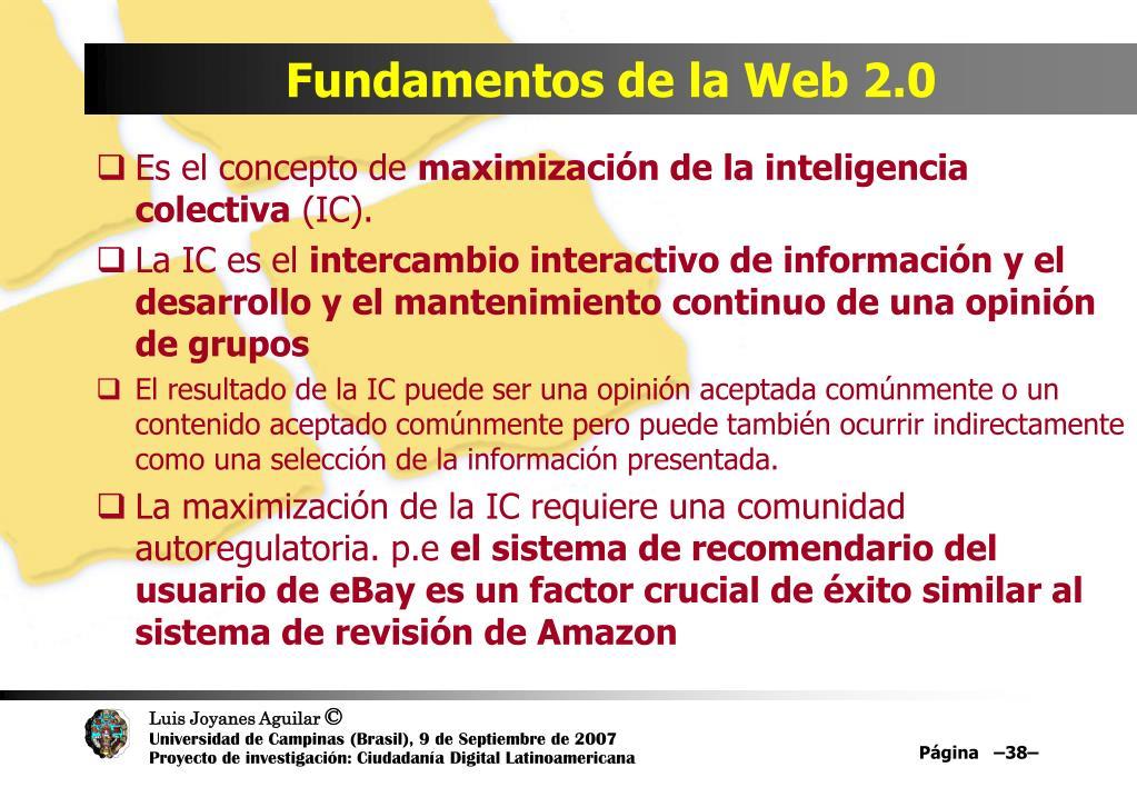Fundamentos de la Web 2.0