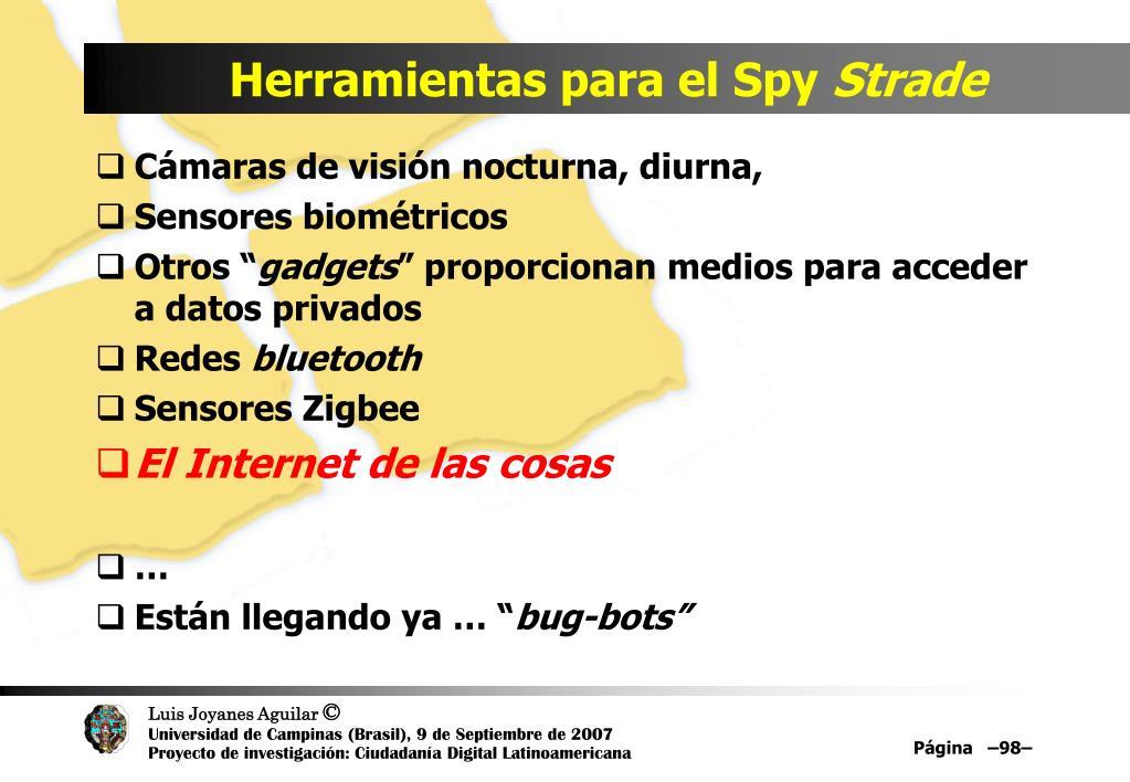 Herramientas para el Spy