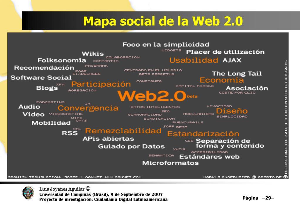 Mapa social de la Web 2.0
