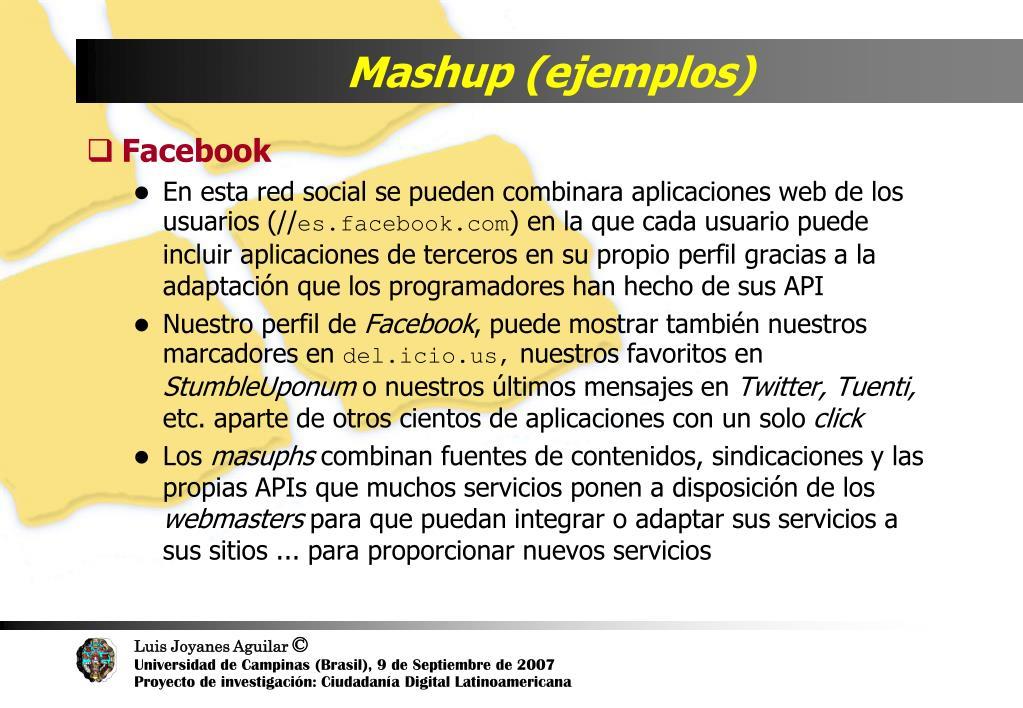 Mashup (ejemplos)