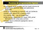 modelos de programaci n ligeros