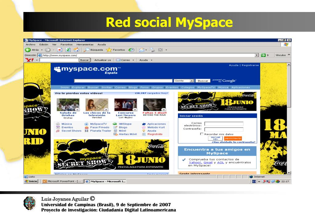 Red social MySpace