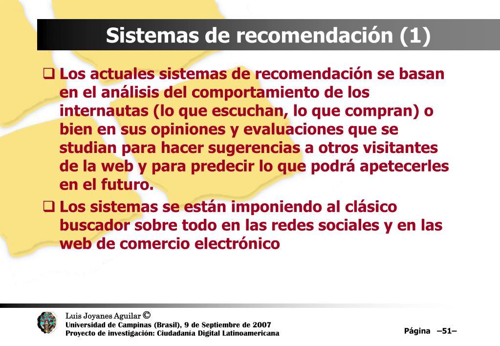 Sistemas de recomendación (1)