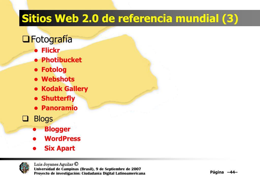 Sitios Web 2.0 de referencia mundial (3)