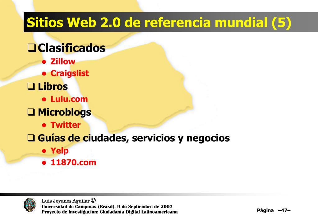 Sitios Web 2.0 de referencia mundial (5)