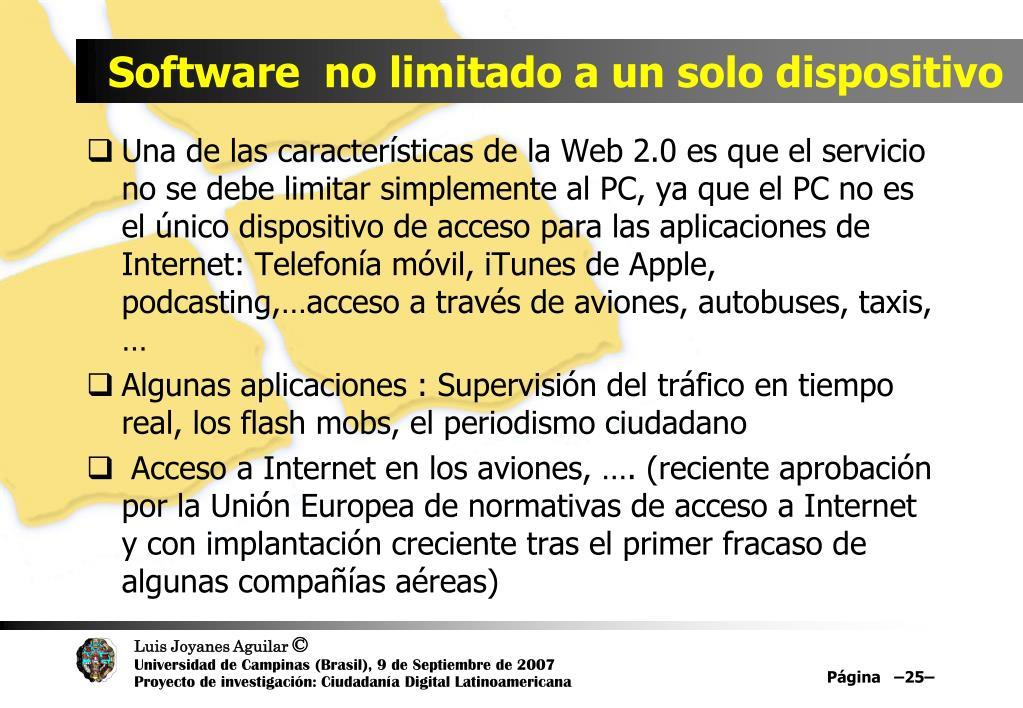 Software  no limitado a un solo dispositivo