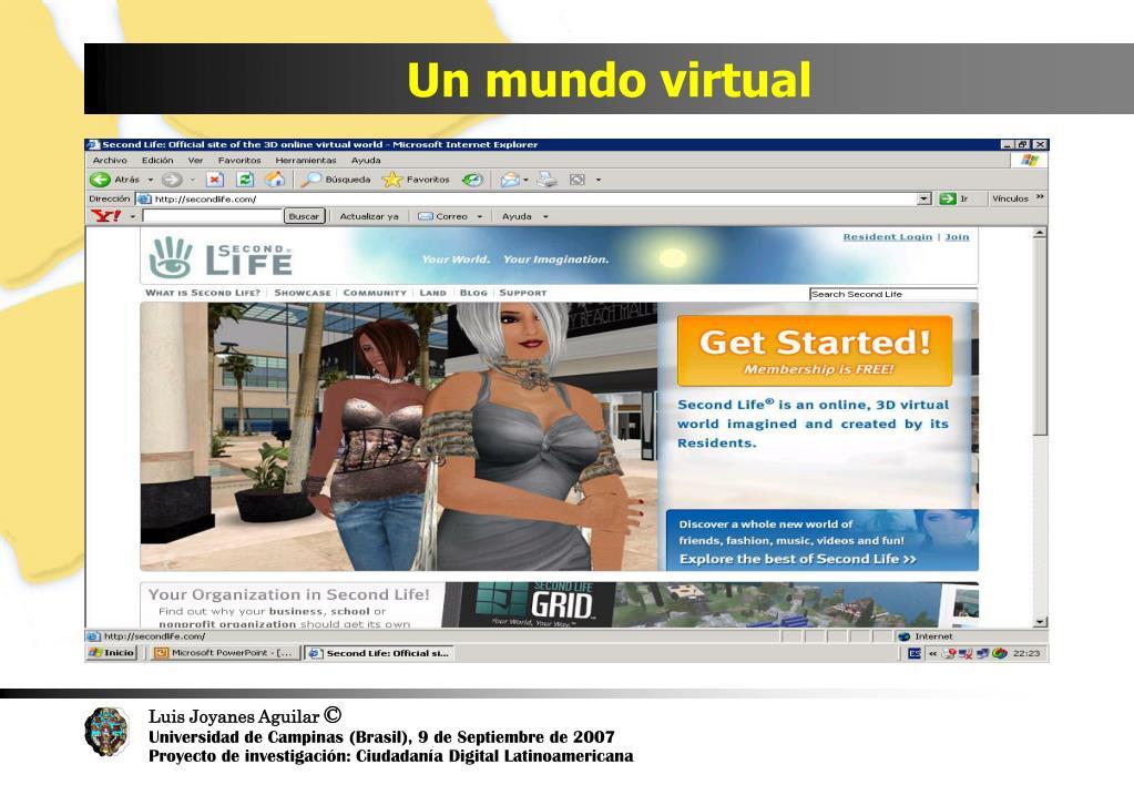Un mundo virtual
