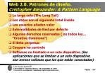 web 2 0 patrones de dise o cristopher alexander a pattern language28